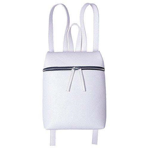 à Noir PANGOIE Sac Dos Sac Cuir PU Dos Mode Simple à Sac White Femme Bandoulière Blanc à R1xx6qCw