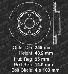 Fits: 2003 03 2004 04 2005 05 Toyota MR2 Spyder KM007281 Max Brakes Front Supreme Brake Kit E-Coated Slotted Drilled Rotors + Ceramic Pads