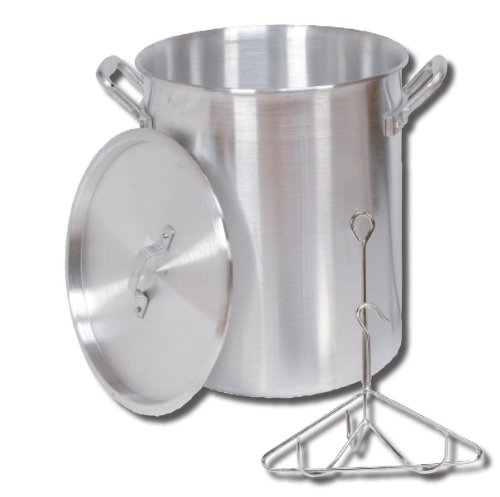 King Kooker 30PK 30-Quart Aluminum Turkey Pot with Lid, Lifting Rack and Hook