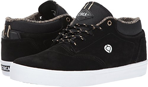 C1RCA Men's Lakota SE Water Resistant Traction Skate Shoe, Black/White, 11.0 Medium (C1rca Footwear Sneakers)