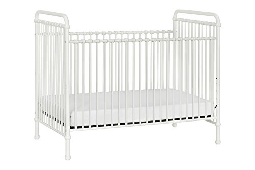 Million Dollar Baby Classic Abigail 3-in-1 Convertible Iron Crib,  Washed White (Beds Wrought White Iron)