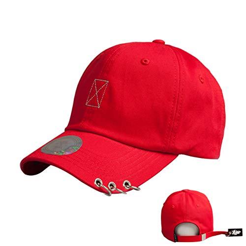 Flipper 3 Rings Pierced Visor Rubber Hang Tail Ball Cap Baseball Cap  Trucker Hat 9a04835528f9
