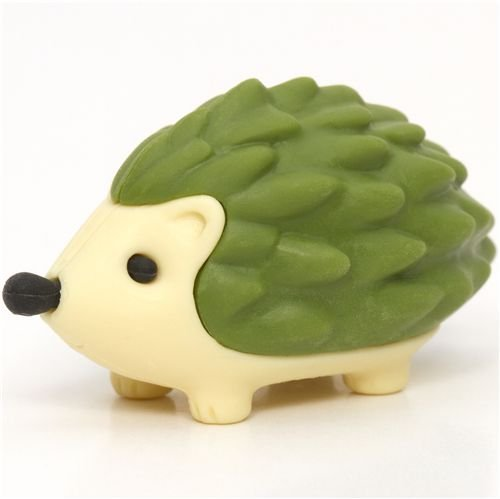 Iwako Green Hedgehog Eraser By From Japan