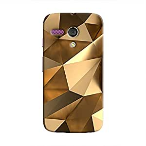Cover It Up - Gold Angles Moto G Hard Case