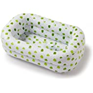 Mommy's Helper Inflatable Bath Tub Froggie Collection, White/Green, 6-18 Months