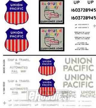 Woodland Scenics Dry Transfer Decals HO Scale Union Pacific Box Cars by Woodland Scenics