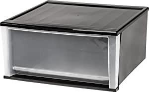 Amazon Com Iris 51 Quart Stacking Drawer Black Home