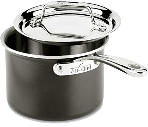 (All-Clad 8701005443 LTD Cookware Saucepan, 2Qt Sauce Pan, Black)