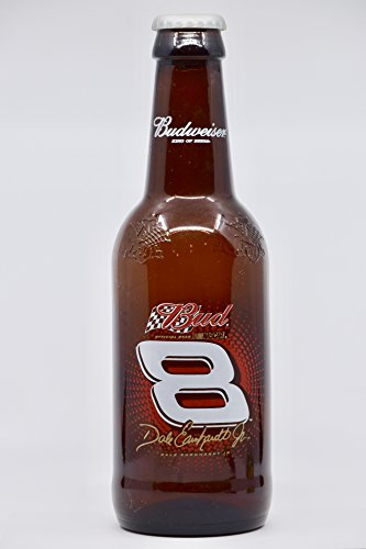 (Budweiser - NASCAR - Dale Earnhardt Jr/Bud Beer Bottle w/Cap - 14 Inches - Rare - Collectible)