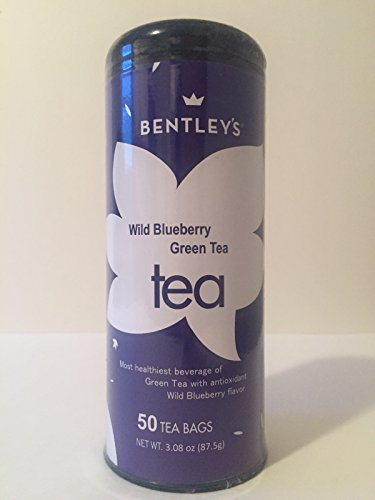 Bentley's Signature Line Wild Blueberry Green Tea, 50 Tea Bags (Pack of 3), Pure Ceylon Green Tea Flavored with Papaya and Passion Fruit, Medium Caffeine, Delicious Hot or Iced