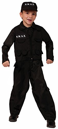 [Forum Novelties SWAT Police Child Costume, Large] (Swat Costumes Kid)
