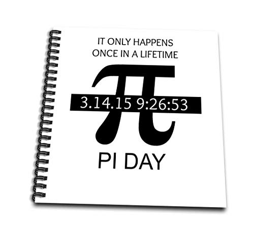 (8x8 drawing book) - 3dRose db_202810_1 Pi Day Once in a Lifetime Drawing Book 20cm by 20cm
