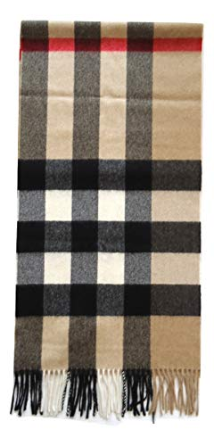 Burberry Cashmere Scarf - Burberry The Large Classic Cashmere Scarf in Check - Camel