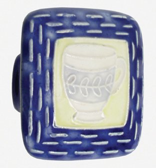 - Acorn PS7YP Lg Sq Blue and Yellow with Teacup