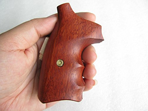 Hot!! Smith &Wesson, J Frame, Square Butt Revolver Grips, Chiefs Special, Smooth and Opened Back,Hard Wood Thai Handmade and Ship from Thailand