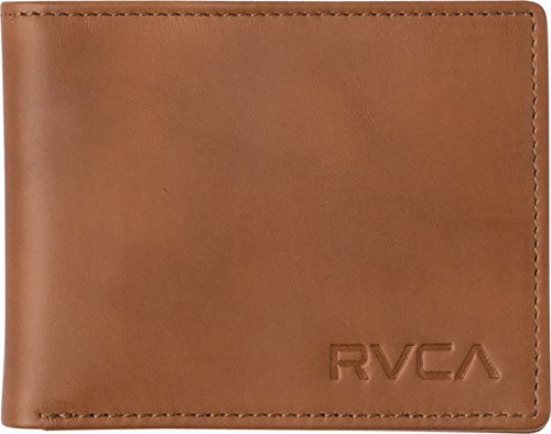 RVCA Men's Crest Bifold Wallet, Tan, One Size ()