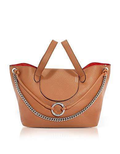 l0202tan Brown Leather Handbag ()