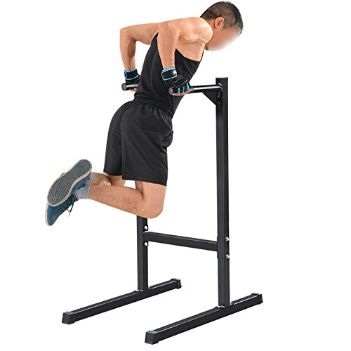 Bicep Tricep Dip Station Exercise Training Self Standing Dip Bar Stand 500 lbs by Unknown