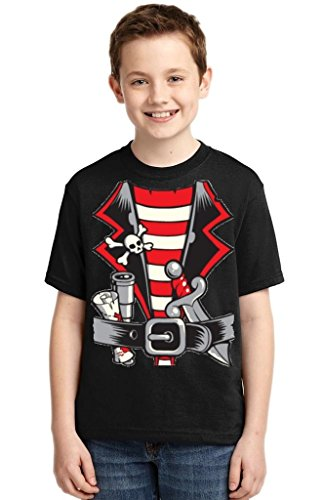 P&B Pirate Shirt Custume Youth T-shirt, M, Black