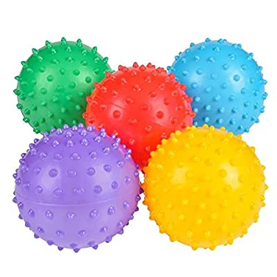 Rhode Island Novelty Inch3 Knobby Balls Assortments May Vary Set of 12: Toys & Games