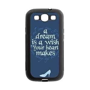 Personalized Fantastic Skin Durable Rubber Material Samsung Galaxy s3 I9300 Case - Cinderella