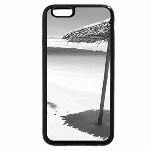 iPhone 6S Plus Case, iPhone 6 Plus Case (Black & White) - Beach
