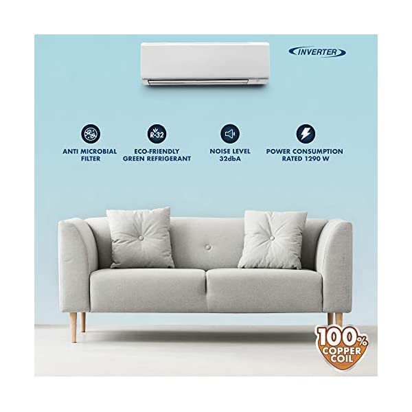 Daikin 1.5 Ton 5 Star Inverter Split AC (Copper, Anti Microbial Filter, 2020 Model,FTKF50TV, White) 2021 July Split AC with inverter compressor: Variable speed compressor which adjusts power depending on heat load. It is most energy efficient and has lowest-noise operation 1.5 Ton Energy Rating: 5 Star: , Annual Energy Consumption (as per energy label): 767 units, ISEER Value: 5.33