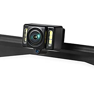 AUTO-VOX Cam1 HD Car Rear View Backup Camera of License Plate for Truck & RV with the Features of IP68 Waterproof High Brightness Light Sensor Night Vision LEDs