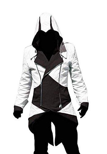 Cosplay Assassino Credo Nero Infinite bianco Dell' Pro Inception Giacca q71YU