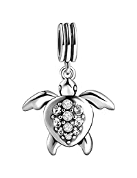 SOUFEEL Crystal Charms Pendants Sea Animal Charms 925 Sterling Silver Charm Fit European Bracelets and Necklaces Unforgettable Gifts