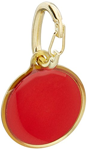 Coastal Pet Products DCP45000DOG Brass Round Reflective Dog Identification Tag, 1-Inch, Red