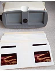 Stereoscope-3 Vintage USSR Soviet Union Russian Plastic 3-D Viewer & 10 cards