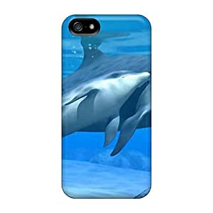 Back Cases Covers For Iphone 5/5s - Dolphins