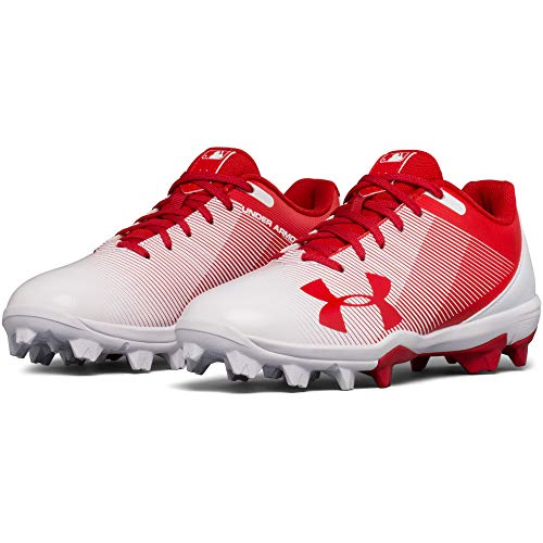 Under Armour Boys' Leadoff Low Jr. RM Baseball Shoe Red (611)/White 1 by Under Armour (Image #4)
