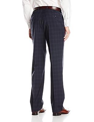 Andrew Marc Men's Carlton Dark Charcoal Plaid 2 Button Side Vent Notch Suit