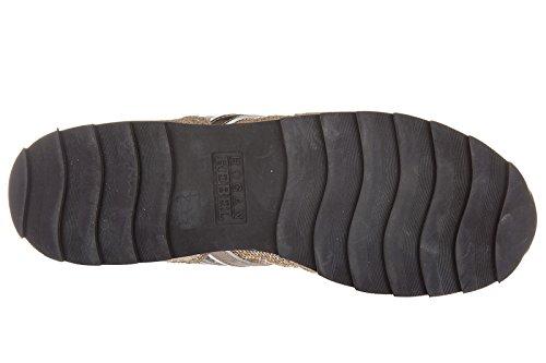Hogan Rebel Zapatos Zapatillas de Deporte Mujer EN Piel Rebel r261 Rosa
