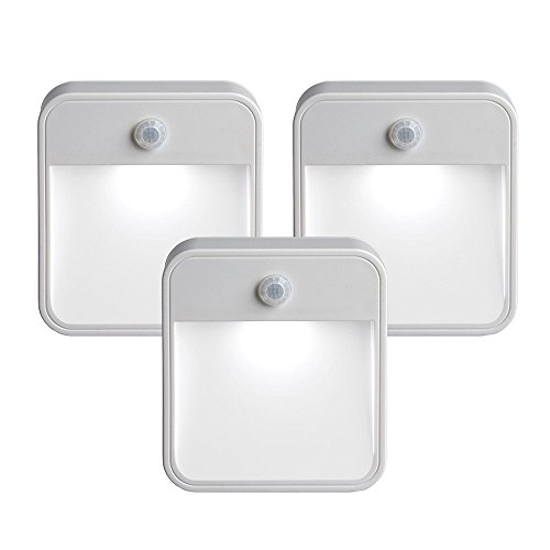 723 Battery-Powered Motion-Sensing LED Stick-Anywhere Nightlight, 3-Pack (Motion Activated Battery)