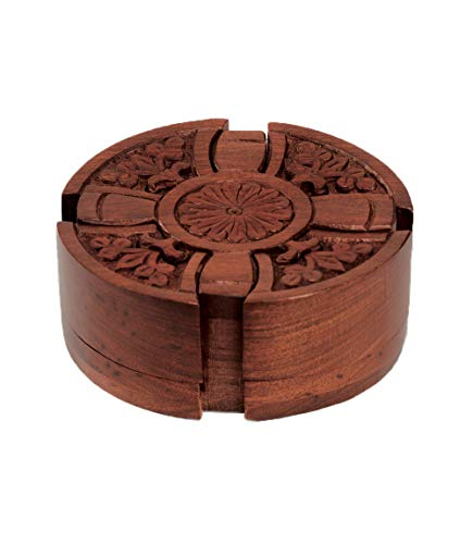 Matr Boomie Handmade Wooden Cross Puzzle Box/Jewelry Box/Stash Box/Brain Teaser with Secret Compartment