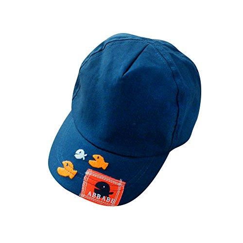 Lean In Kids Boys Girls Cute Baby Cartoon Little Fish Beanie Baby Baseball Cap Sun Hat