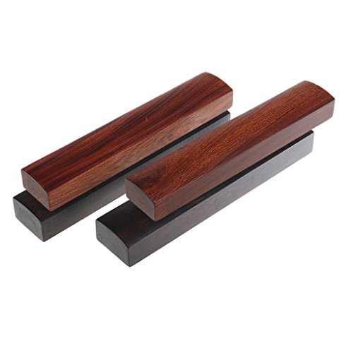 Baoblaze Polished 4 Pcs Rosewood Calligraphy Paperweight for House Office Accessory (Paperweight House)