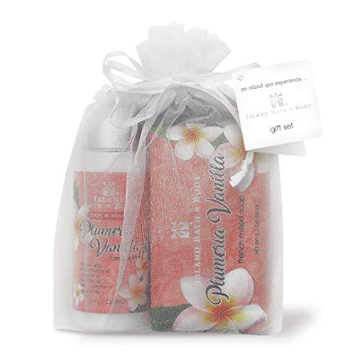 Island Plumeria (Island Bath and Body Plumeria Vanilla Hawaiian Spa Sampler Gift Set)