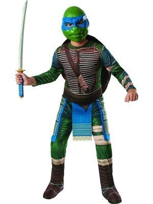 [Rubies Teenage Mutant Ninja Turtles Child Leonardo Costume, Medium] (Turtle Shell Design Costume)