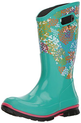 Bogs Women's Berkley Footprints Rain Boot Turquoise/Multi