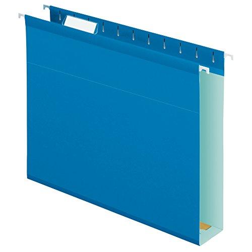 Pendaflex - Carpetas colgantes reforzadas con capacidad extra, tamaño de letra, 25 por caja, Azul, Carta