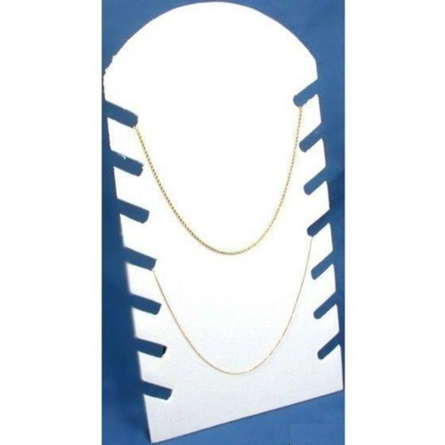 Necklace Display Chain Jewelry White Flocked Showcase 64-1W