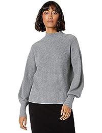 Women's Gwen Long-Sleeve Mock-Neck Ribbed Sweater
