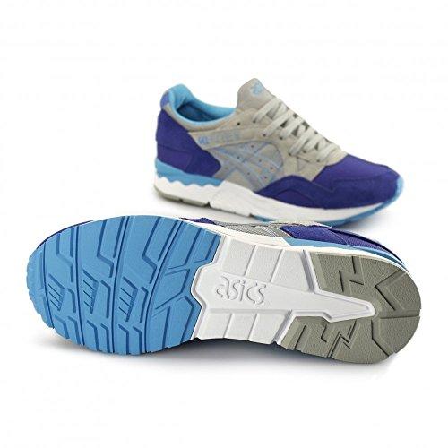 Asics Limited Edition Gel Lyte V Sneakers Pelle Scamosciata Dark Blue-light Grey Art h504n