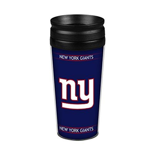 Boelter Brands NFL New York Giants Full Wrap Travel Tumbler, 14-Ounce, Blue (Mug York Giants New)