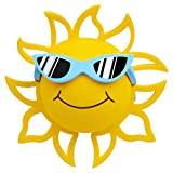 Coolballs California Sunshine w Sunglasses Car Antenna Topper Rear View Mirror Dangler Desktop Spring Stand Bobble (Blue Sunglasses)