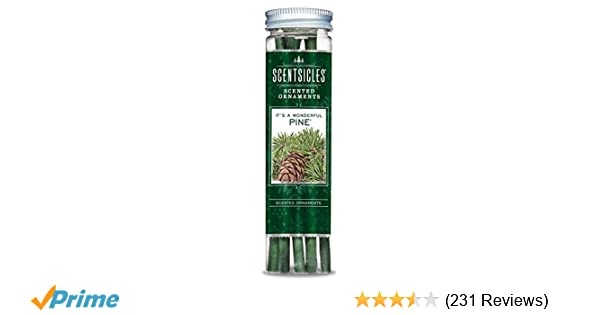 amazoncom scentsicles fresh cut pine scented ornament sticks 1 bottle 6 sticks home kitchen - What Christmas Tree Smells The Best